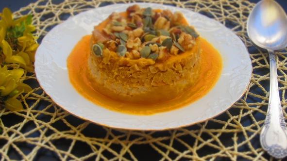 Deliciosamente sano crema de calabaza con arroz integral garbanazos y nueces 1 (3)
