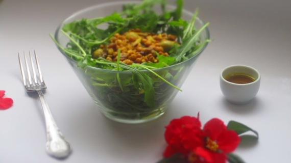 Deliciosamentesano ensalada de lentejas con rúcula 3