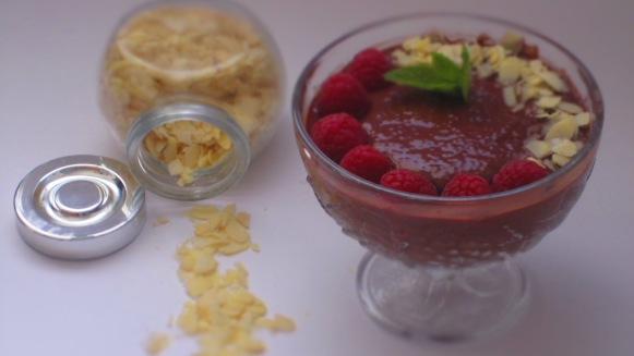 Deliciosamentesano pudding de chia y cacao con frambuesas (4)