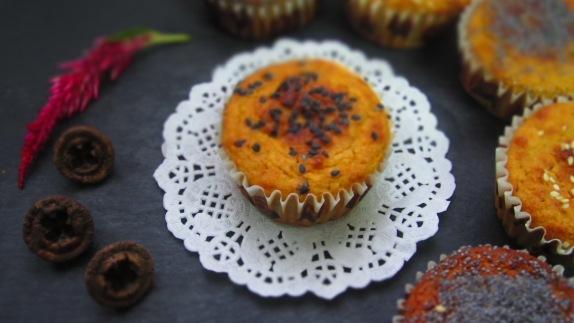 Magdalenas de fonio y zanahoria deliciosamentesano
