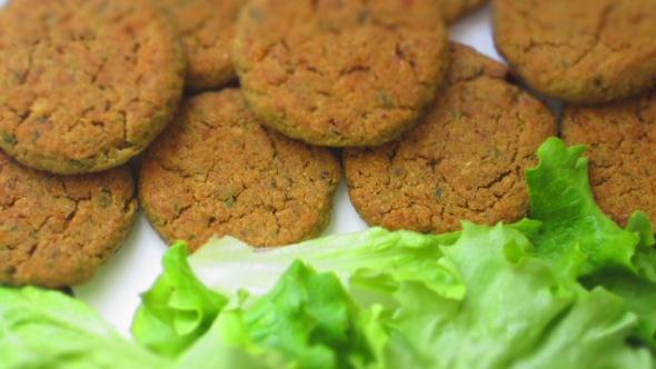Deliciosamente sano falafel detalle